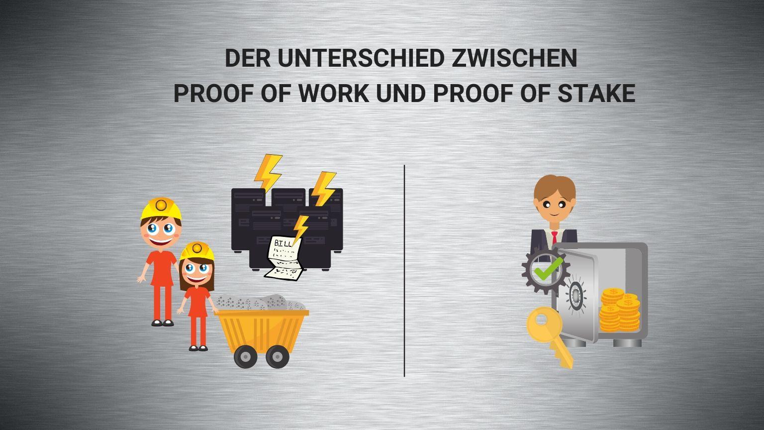 Proof of Work vs Proof of Stake: Wichtigsten Unterschiede